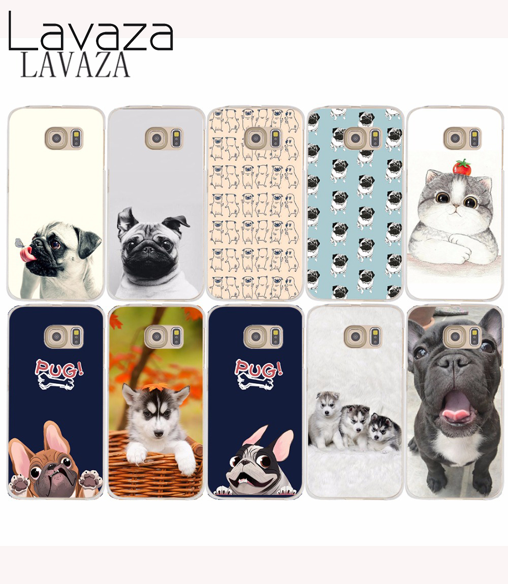 452O French Bulldog Puppies Black Hard Transparent Phone Cases Cover for Galaxy S2 S3 S4 S5 & Mini S6 S7 & Edge Plus