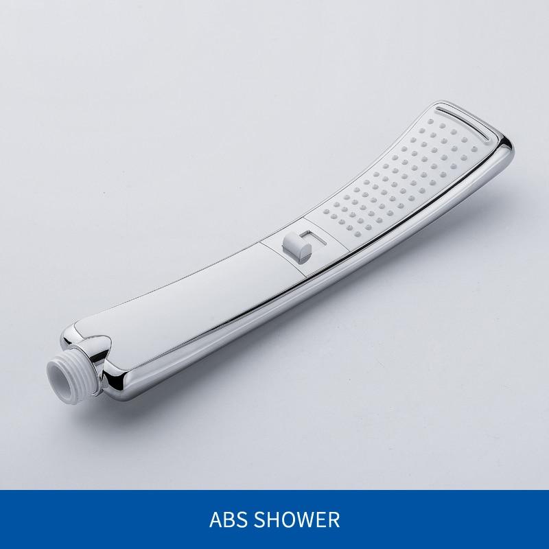 Водопад, 2 функции, ручная душевая головка, высокое давление, дождевой Душ, опрыскиватель, набор, экономия воды, дизайн - Цвет: Shower