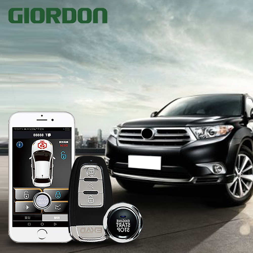 Système d'entrée sans clé de démarrage automatique alarme de voiture PKE Start stop auto à partir de le téléphone de verrouillage central verrouillage centralisé clé de verrouillage fob alarme de voiture