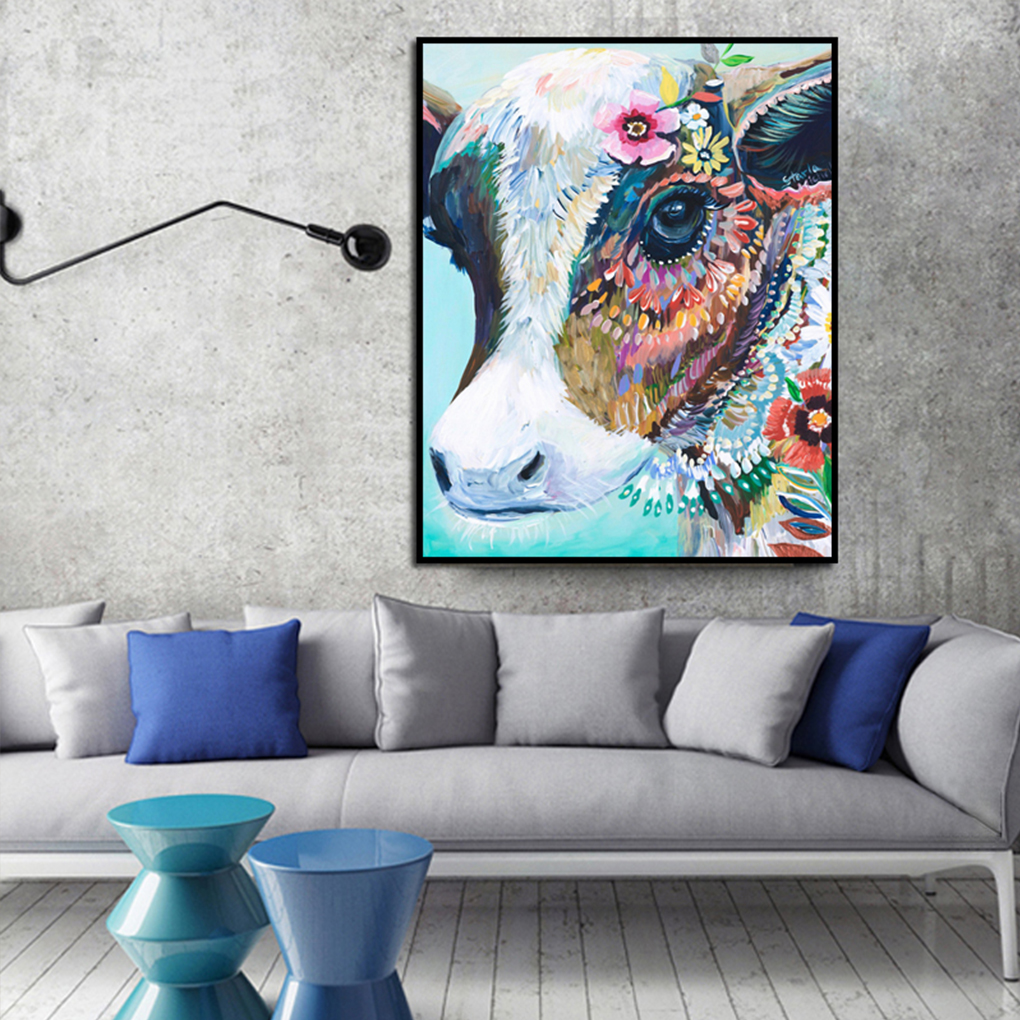 Teal Wall Art Animals Cow Canvas Prints Poster Home Decor Paintings Living Rooms Framework Animals Home Room Wall Art Painting Wall Art Animals Cow Canvas Prints Poster Home Decor Paintings