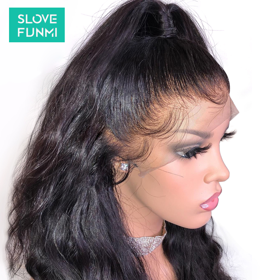 Body Wave Lace Front Human Hair Wigs For Black Women Pre Plucked Brazilian Remy Lace Frontal