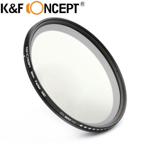 K & F CONCEPT 49mm 슬림 페이더 변수 ND2 ~ ND400 필터 조정 가능한 ND 뉴트럴 농도 렌즈 필터