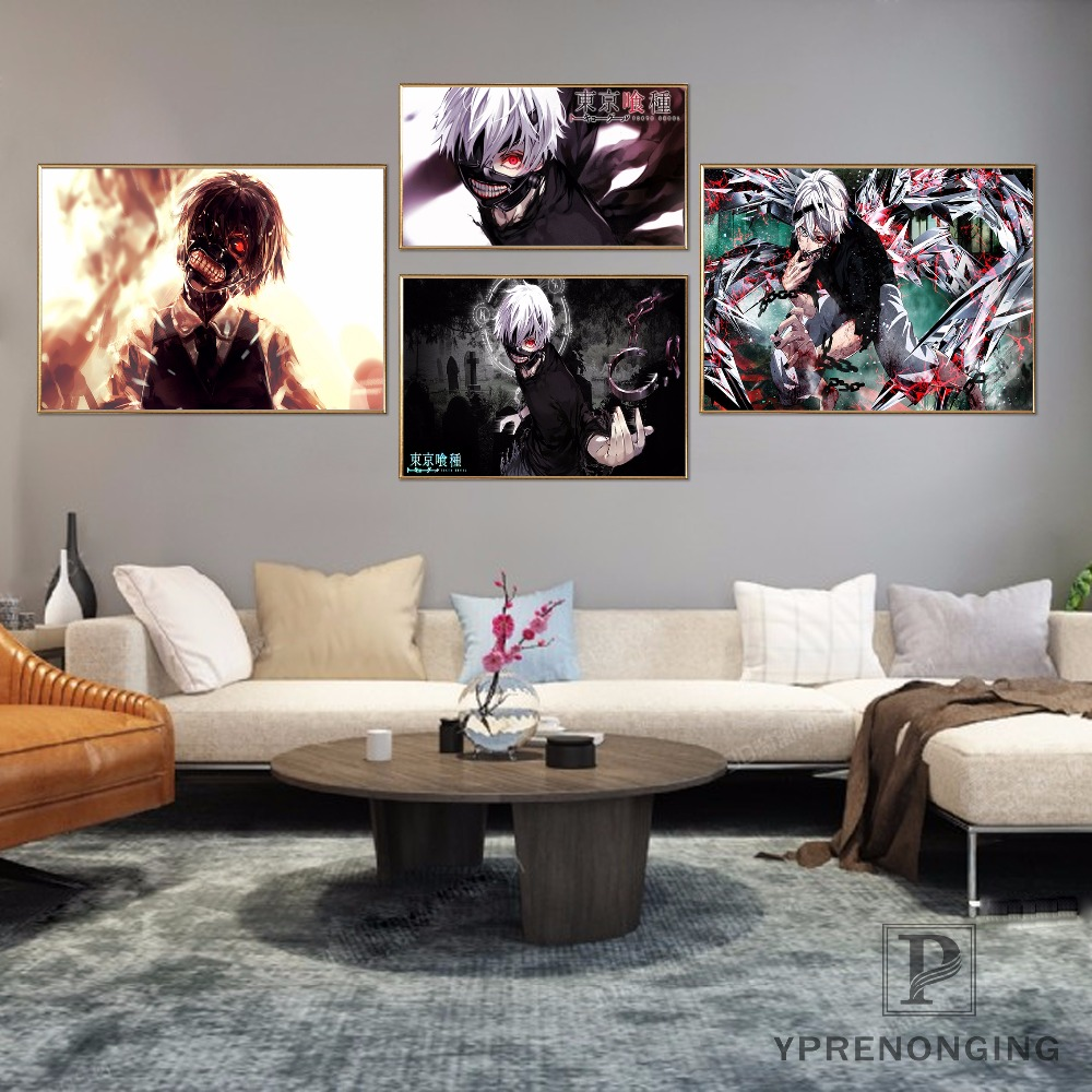 Custom Tokyo Ghoul Home Decor Canvas Printing Silk Fabric Print Wall Poster No Frame 180317@96