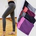 4 Colores de la Primavera de Las Mujeres causal Leggings Yuga calcular Jegging leggings Culturismo delgado Ropa de Moda de alta Elástica Leggings