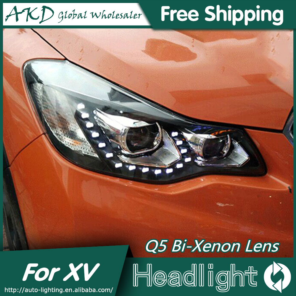 AKD Car Styling for XV Headlights 2012-2015 XV LED Headlight LED DRL Bi Xenon Lens High Low Beam Parking akd car styling for nissan teana led headlights 2008 2012 altima led headlight led drl bi xenon lens high low beam parking