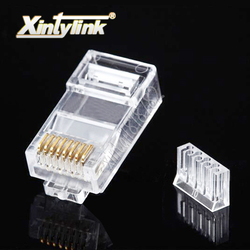Złącze xintylink rj45 kabel ethernet wtyczka cat6 nieekranowane złącze sieciowe męskie gniazdo rj 45 utp 8p8c obciążenie bar modułowe 50 sztuk w Złącza od Lampy i oświetlenie na