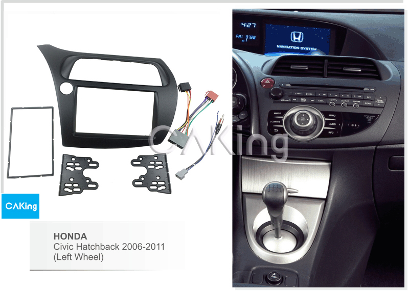 Car Fascia Radio Panel Harness Antenna for Honda Civic Hatchback 2006 2011 Left Wheel Audio Frame