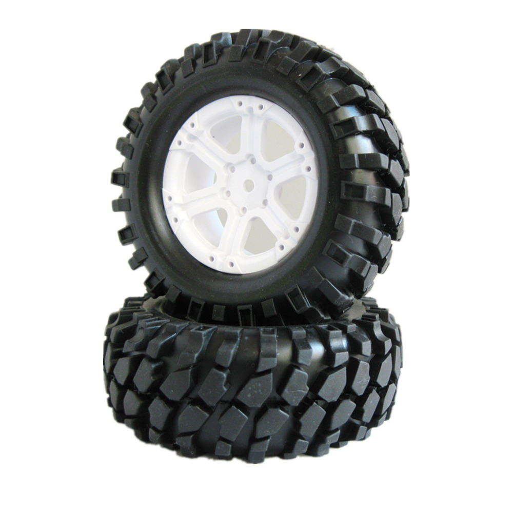 4 unids/lote RC 1,9 RC Crawler Neumáticos Llantas 12mm eje hexagonal ...