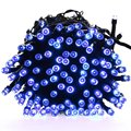 Ledertek Luces De Navidad 72 pies 200 LED Cuerda de  Luces Solar Para la Casa, Interior/Aire Libre, Patio, Jardín, Fiesta, Boda (Azul)
