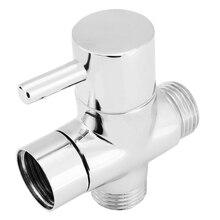"""Mayitr хром латунь Ванная комната Туалет Биде G1/"""" Т-адаптер душевой переключатель клапан 3 способ смеситель для душа тройник соединитель клапан инструмент"""