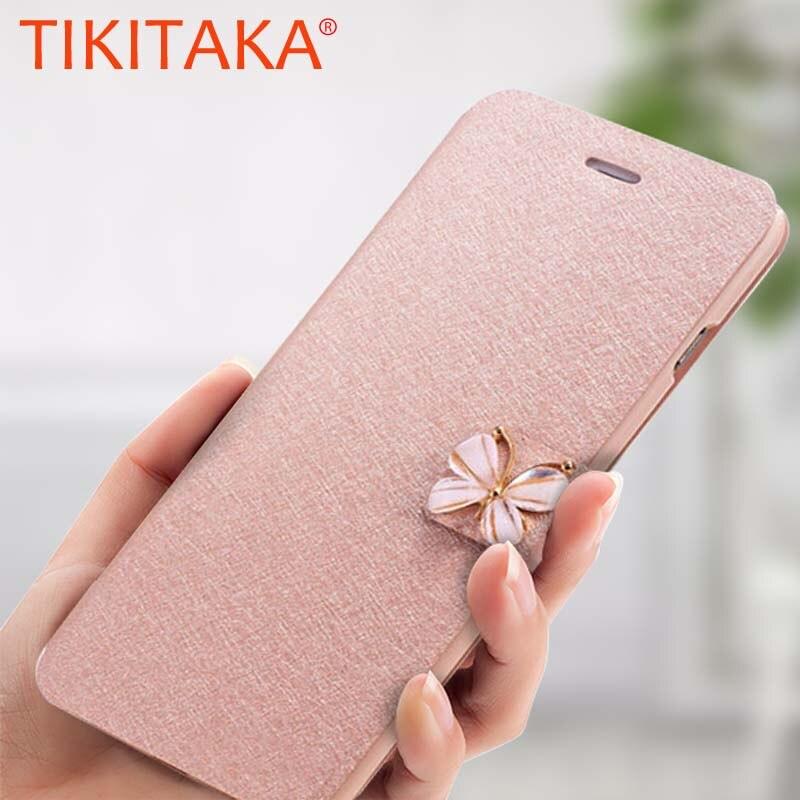 Чехол-бумажник Tikitaka с кристаллами и бриллиантами, с бантиком и бабочкой для iPhone 8, 7, 6, 6s Plus, SE, 5, 5s, SE, откидные чехлы для телефонов, тонкий Чехол