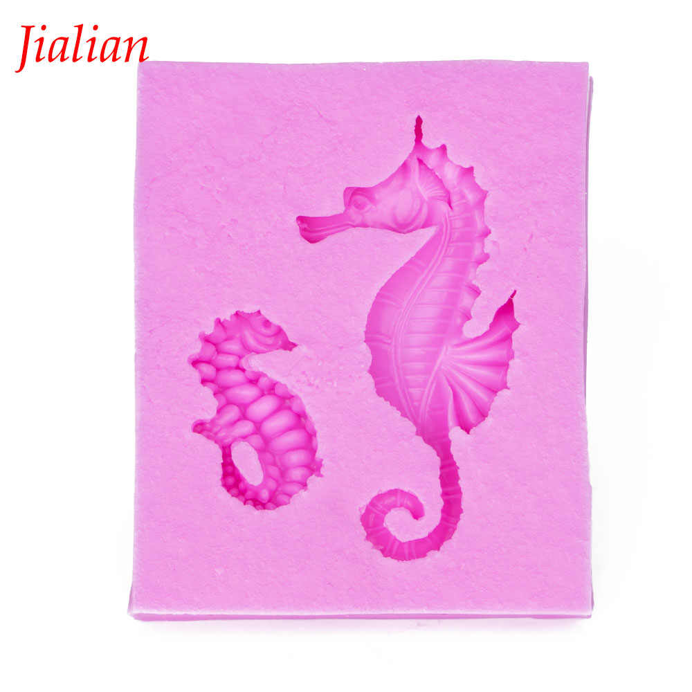 Hippocampus shaped 3D Reverse sugar molding Food Grade silicone mould for polymer clay molds chocolate cake decoration tool 1007