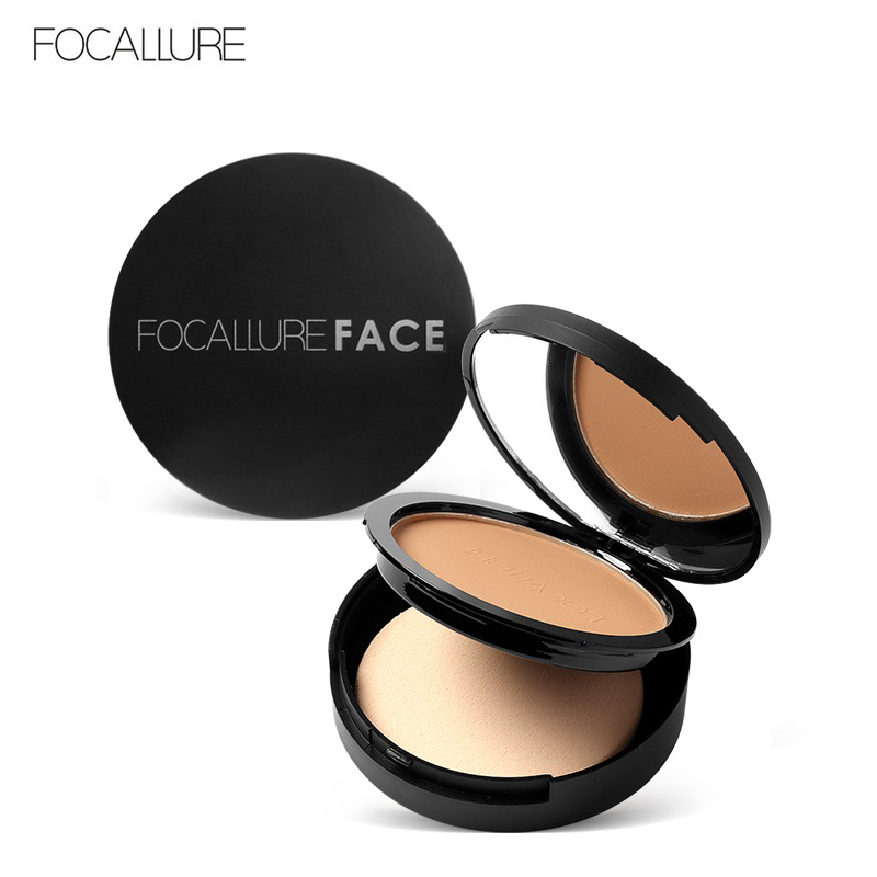 FOCALLURE 3 Colors Make Up Face Powder Bronzer Highlighter Shimmer Brighten Palette Contour Makeup Cosmetics Face Pressed Powder
