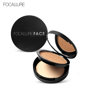 FOCALLURE 3 Colors Make Up Face Powder Bronzer Highlighter Shimmer Brighten Palette Contour Makeup Cosmetics Face Pressed Powder(China)