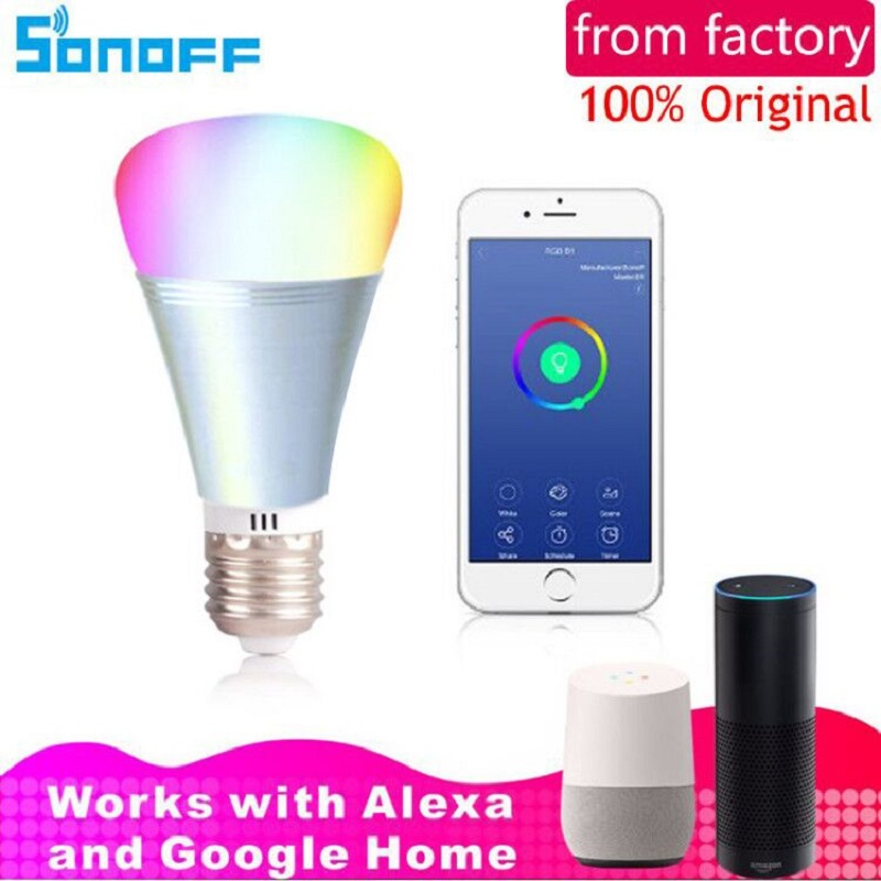 Sonoff B1 Led Bulb Dimmer Wifi Smart Light Bulbs Remote Control Wifi Light Switch Led Color Changing Light Bulb Works With Alexa цена