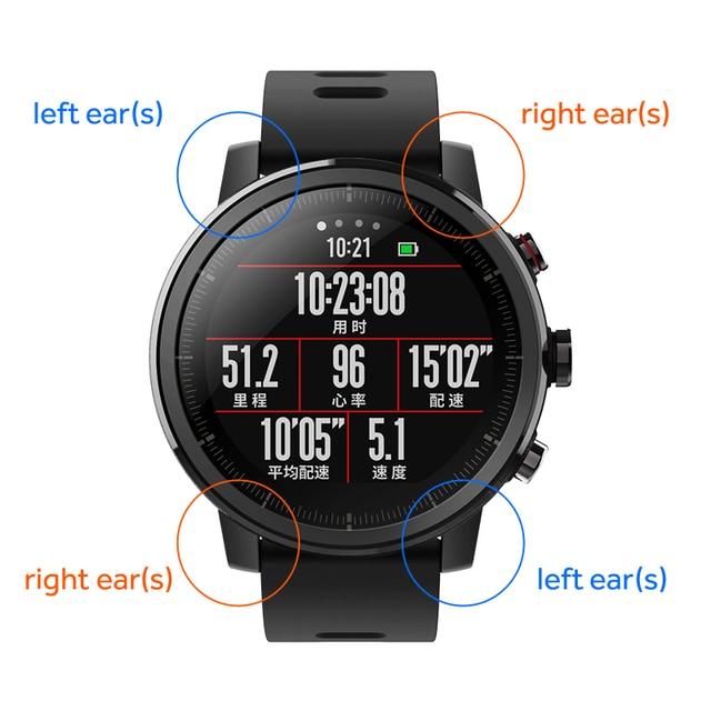 Kulaklar Xiaomi Huami Amazfit 2 Amazfit Stratos Hız 2 akıllı saat