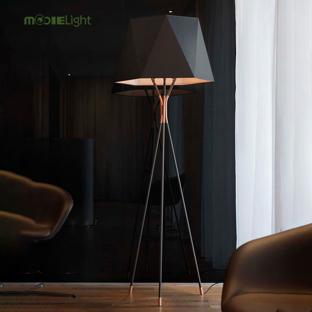 US $189.72 49% OFF|Mooielight Black Floor Lamp 13309 By Usona Fashion  Modern Design Floor Lights For Living Room/Country House/Bar/Hotel 80  260V-in ...