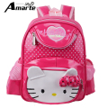 New Cute Dot Hello Kitty Girls Backpacks Children School Bag For Kids High Quality PU Leather kindergarten Bag mochila escolar