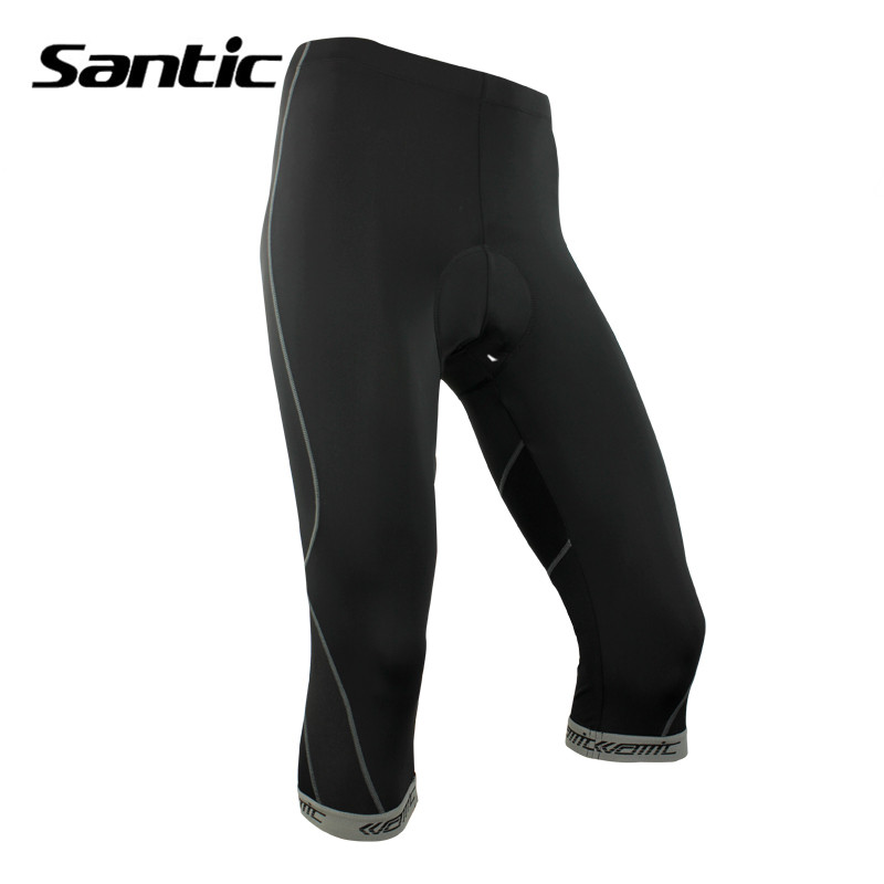 Santic Men Cycling Shorts With 3D Anti Slip Padded MTB Bottoms Tight Elastic Fit Bike Short