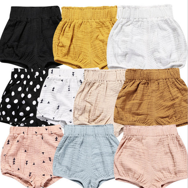 5bdee25bf Toddler Infant Baby clothes Girl Boy Cotton Shorts Kids PP Pants Nappy  Diaper Covers Bloomers Summer baby girls shorts