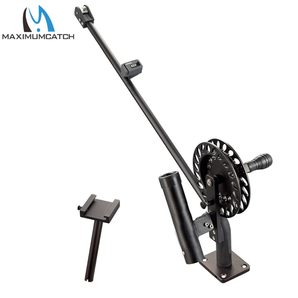 Downrigger manuel de pêche de Maximumcatch avec la Machine de CNC de compteur de pieds en aluminium avec la serrure réglable de traînée de goupille de traînée et d'arrêt
