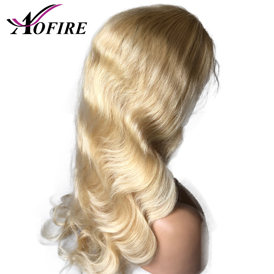 613 Blonde Lace Front Human Hair Wigs Body Wave Pre Plucked With Baby Hair Remy Brazilian