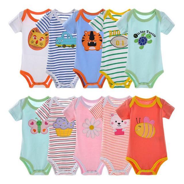 3/4/5Pcs/lot BABY BODYSUITS 100%Cotton for Baby Boy Girls Clothes Ropa De Bebe  Jumpsuit Clothing 0-24m