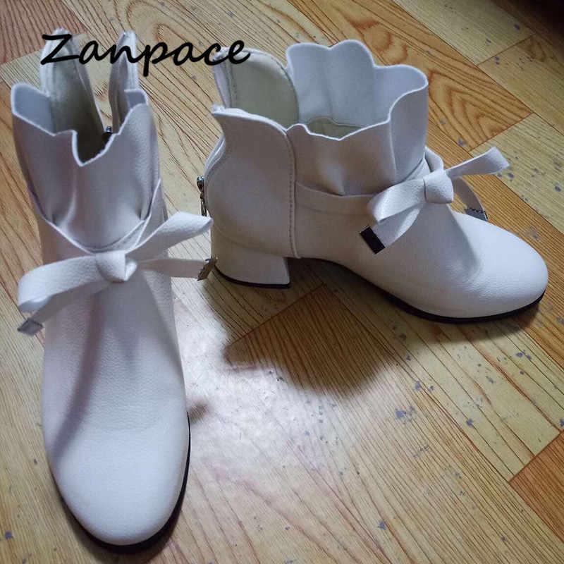 Botas de cuero de primavera 2019 botas de tobillo de tacón Med para mujer Zapatos con cremallera de Punta puntiaguda otoño negro botas de tobillo Zapatos mujer