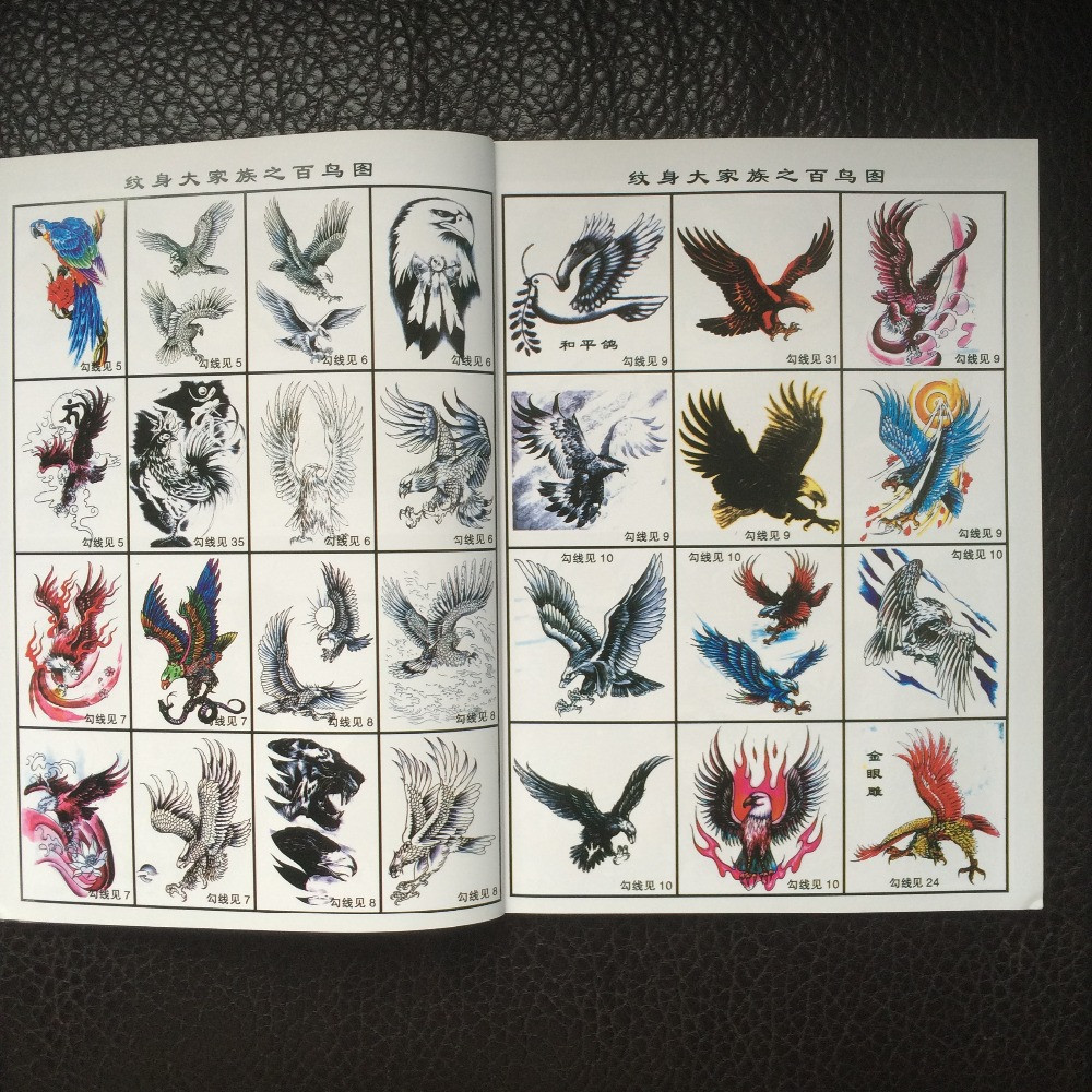 Eagles-Tattoo-Flash-Design-Book-42-Pages-Cursive-Writing-Art-Supply-Tattoo-supplies (3)