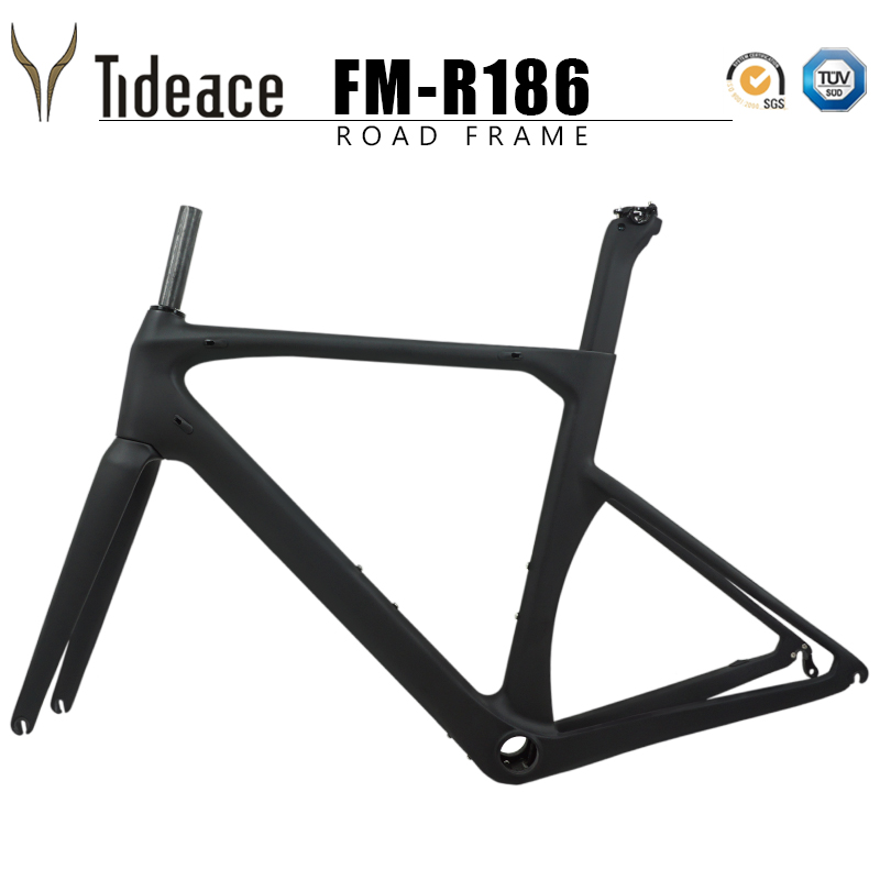 2019 V Brake Carbon Fiber Road Frame 130*9mm UD Carbon Road Bike Frame Di2 Carbon Fiber Bicycle Frameset 50/53/56/59cm