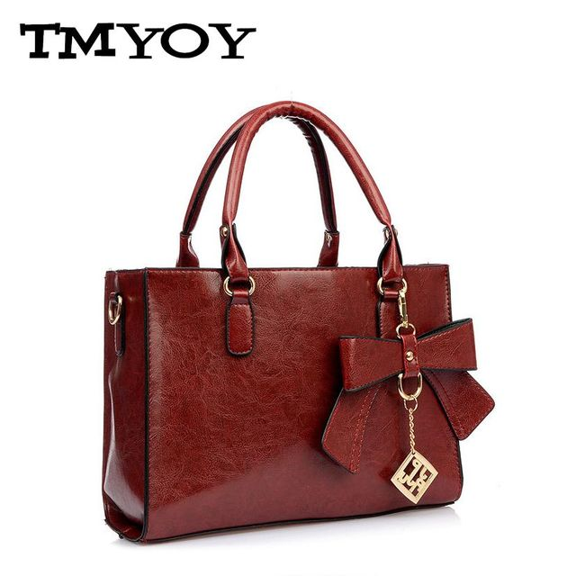 TMYOY 2017 Hot selling PU leather ladies bags bow women messenger bags with cell phone pocket women shoulder bags HB037