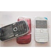 Чехол для телефона с полным корпусом для Nokia Asha 302 Houisng с брелоками черный/белый/красный цвет