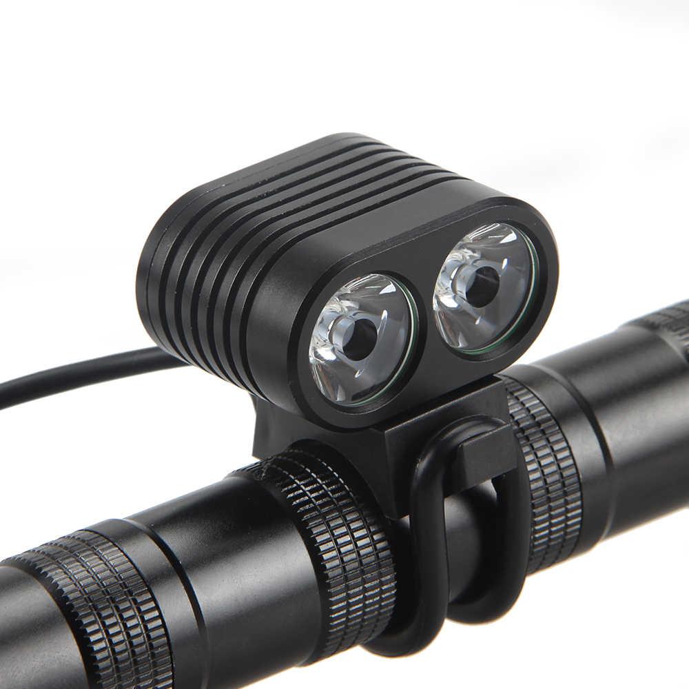 5000LM 2x XML T6 Front Bicycle Bike Light Lamp Headlight Battery Taillight USB