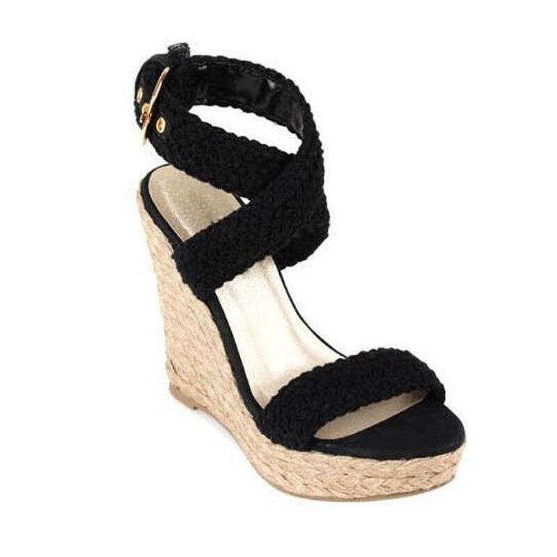 2017 Women Espadrille Wedge Sandals Summer Roman Bohemian Womens ...