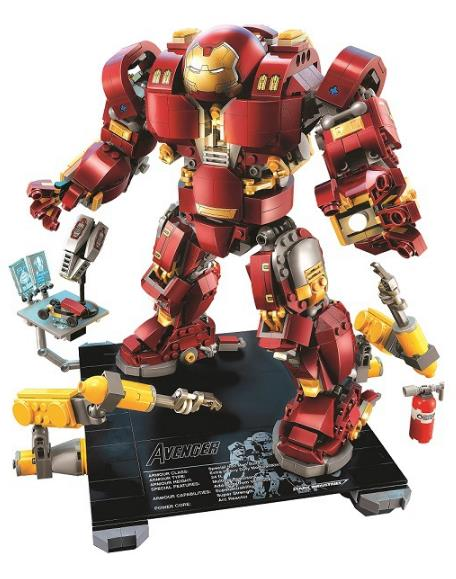 BELA 10833 Marvel Super Heroes Avenger The Hulkbuster Ultron Edition Model Building Block kids Bricks Toys Gift Compatible 76105 цена