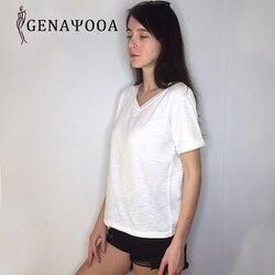T shirt Women Cotton Basic V Neck Black T Shirt Women Short Sleeve Summer Tshirt Women New Arrivals Women Tops 2019 Harajuku 6