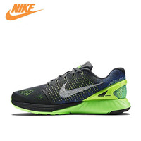 Nike Genuine New Arrival Authentic LUNAR Glide 7 Men's Mesh Light Running Shoes Sneakers 747355 004