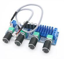 Двухканальный цифровой аудио TPA3116 D2, 12 В, 24 В постоянного тока, 80 Вт x 2, с регулировкой высоких басов, предустановленный Предварительный усилитель, Плата усилителя