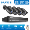 ANNKE 8CH HD 2MP 1080P DVR HDMI 4 Outdoor CCTV Home Video Security Camera System