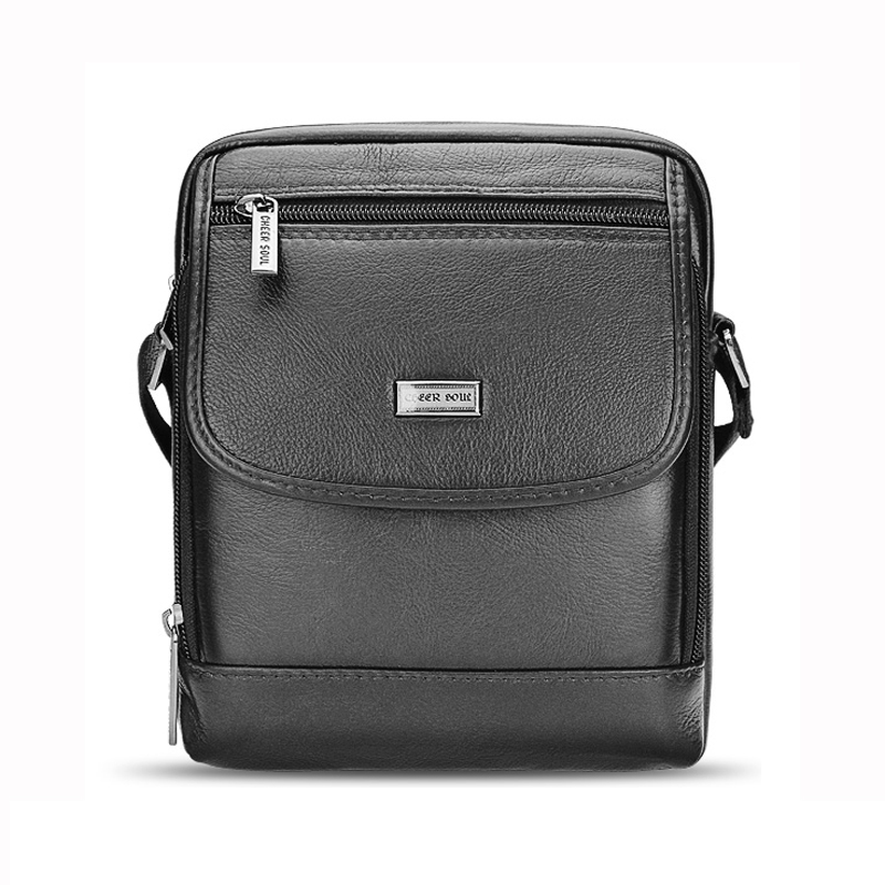 2017 new Hot sale genuine Leather business man bag casual Fashion Hundred collocation messenger leather satchel