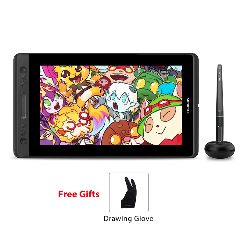 HUION KAMVAS Pro 13 GT-133 Pen Tablet Monitor Digital tableta de pantalla pluma dibujo Monitor con inclinación Func AG vidrio