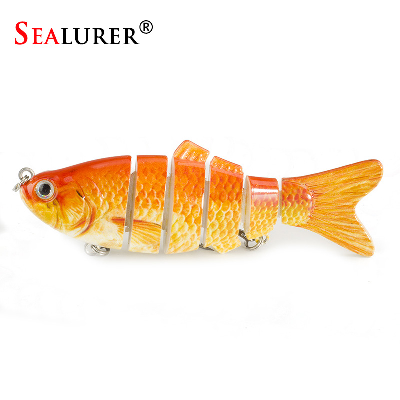 SEALURER 1PCS Lifelike Fishing Lure 6 Segment Swimbait  10cm 17g Isca Artificial Lures Trout Lure new 9h glass tempered for huawei mediapad t5 10 tempered glass screen film for huawei mediapad t5 10 inch tablet screen film