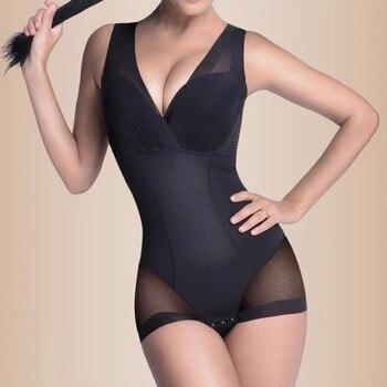 Lady Slimming Burn Fat Briefs Shapewear Tummy Slim Bodysuit Full Body Shaper Slimming Underwear Vest Bodysuits Jumpsuit L-XXL 2