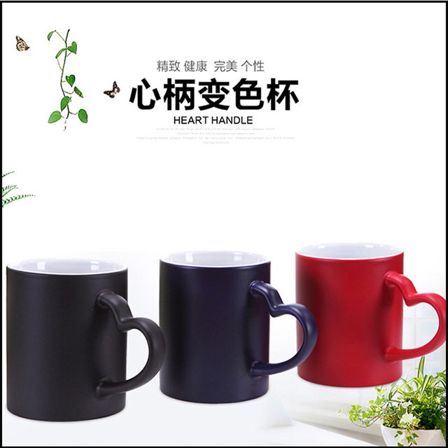DIY Photo Magic Color Changing Coffee Mug custom your photo on Tea cup Black color best gift for friends 1