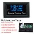 7в1 OLED Многофункциональный тестер Напряжение Ток Время Температура Емкость Вольтметр Амперметр электрический измеритель DC 33/110V 3/10A