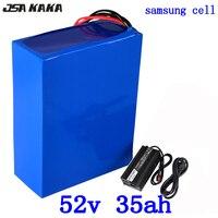 52 в 1000 Вт 2000 Вт Батарея 51,8 в 35Ah Электрический велосипед батарея 52 в 35AH литий ионный аккумулятор ИСПОЛЬЗОВАТЬ samsung ячейки с 58,8 в 5A зарядное уст