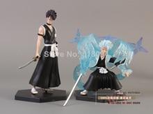 Bleach Kurosaki ichigo Hitsugaya Toushirou Kira Iziru PVC Action Figures 4pcs/set 10cm