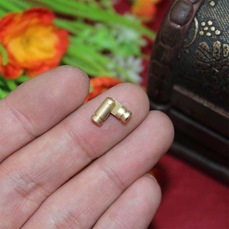 500Pcs 4 15mm Bulk Brass Cylinder Door Hinge Bolts Antique Vintage Chinese Style Hardware Accessories Wooden