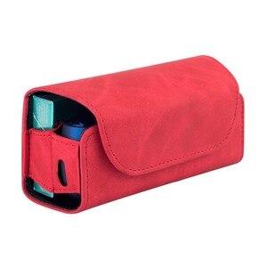 Image 3 - موضة الوجه غطاء كتاب مزدوج ل 3.0 حقيبة صغيرة وجراب حامل غطاء محفظة جلدية الحال بالنسبة iqos 3