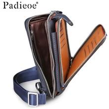 62a1360b2e76f PADIEOE bolsa de ombro crossbody sacos de couro dos homens para homens  pacote de peito de couro genuíno saco do mensageiro dos h.